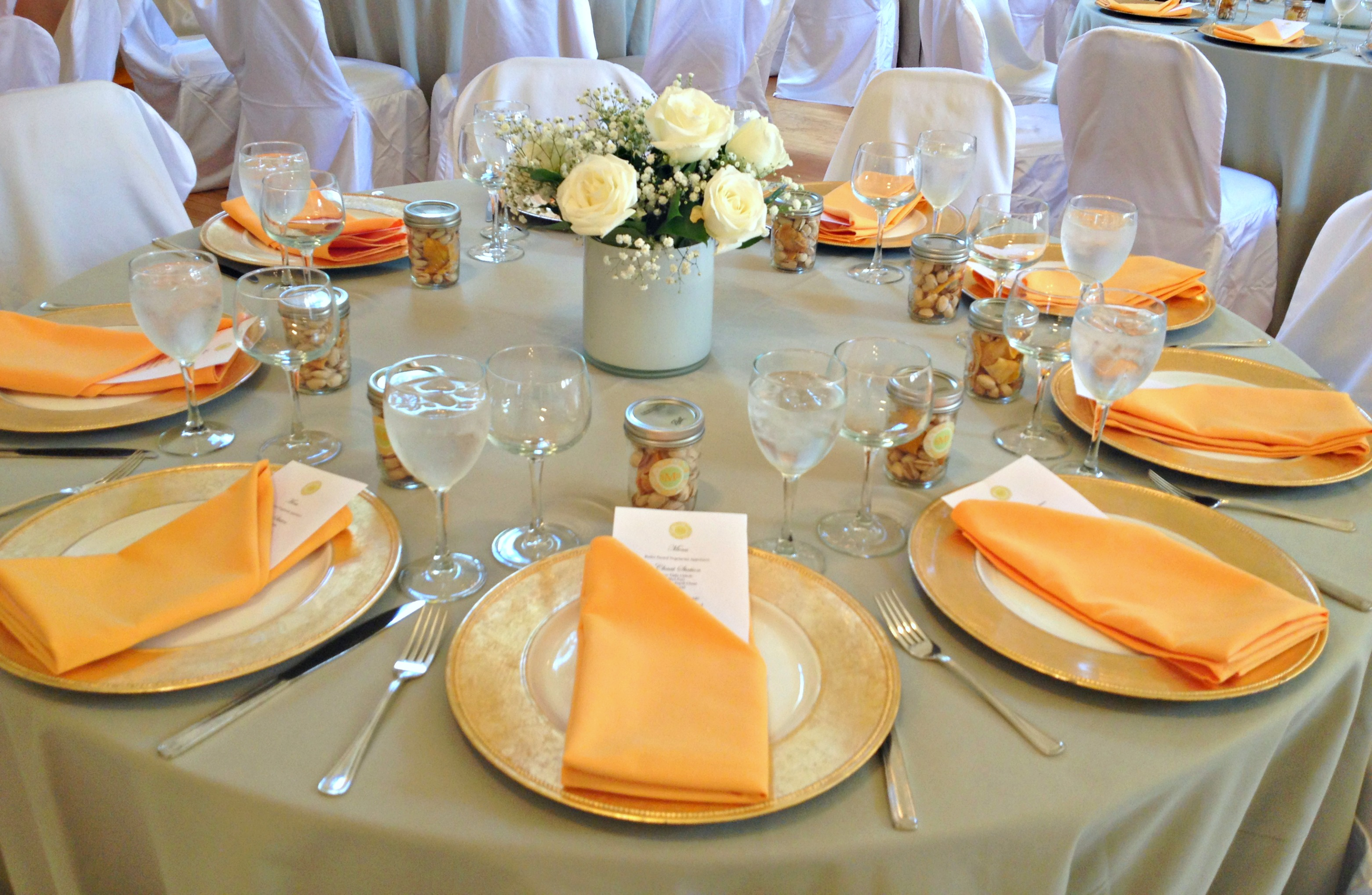 Lovely Orange Table Setting Wedding & Exciting Design Wedding Table Setting Online Pictures - Best Image ...